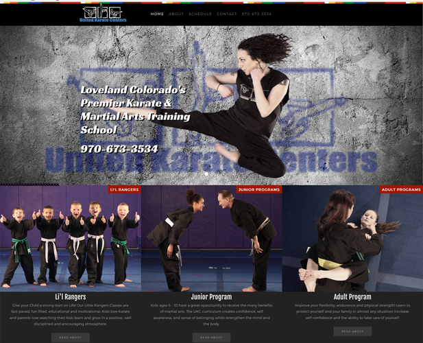 United Karate Centers web site